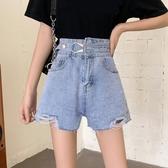 牛仔短褲破洞高腰牛仔褲超短褲女夏2020年新款褲子寬鬆顯瘦a字闊腿褲熱褲伊蘿 雙11 伊蘿