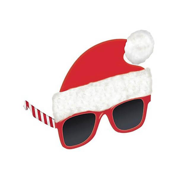 聖誕節 裝扮 聖誕帽眼鏡1入