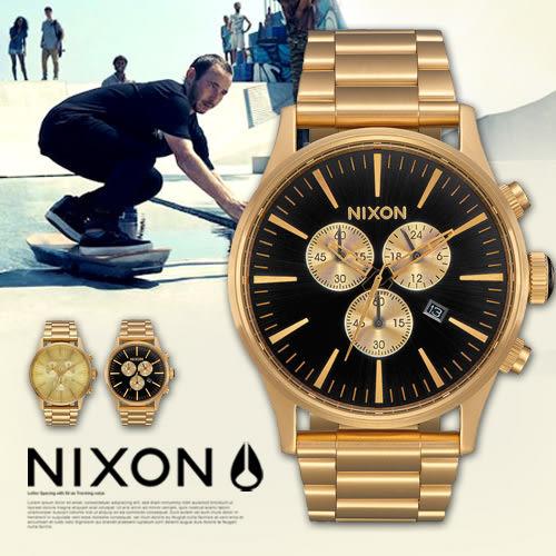 NIXON THE SENTRY CHRONO 42mm/男女兼用/軍事風格/A386-510