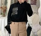 FINDSENSE 品牌 2019 春季 新款 中長褲 嘻哈 刷漆 印花  寬鬆