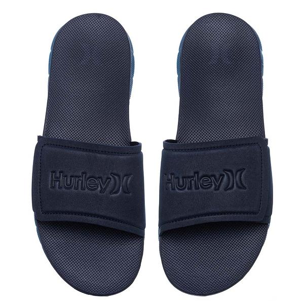 Hurley M HRLY FUSION 2.0 SLIDE BLACK/BLACK 拖鞋 (藍)
