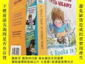 二手書博民逛書店a罕見triple treat of horrid henry:三重對待可怕的亨利Y200392