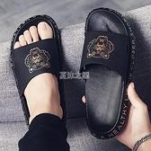 拖鞋 涼拖鞋男夏家用防滑鞋子男韓版潮流社會外穿一字拖ins 沙灘鞋網紅