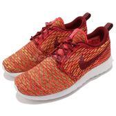 【四折特賣】Nike 休閒慢跑鞋 Wmns Roshe One Flyknit 橘 紅 運動鞋 女鞋【PUMP306】 704927-600