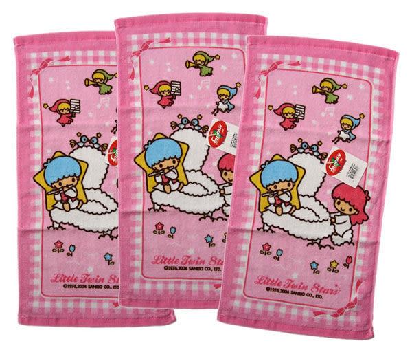 【卡漫城】雙子星 小毛巾 ㊣版 Kikilala 童巾 純棉 台製 Twin Stars 三條一組