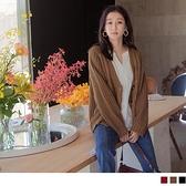 《FA2279-》純色麻花粗針織琥珀排扣毛衣外套 OB嚴選