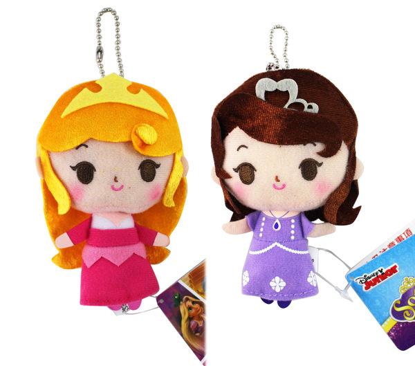 【卡漫城】 公主系列 玩偶 11cm 二款選一 ㊣版 蘇菲亞 Sofia 睡美人 Aurora 吊飾 娃娃 布偶 迪士尼