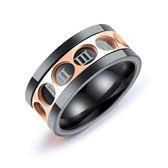 【5折超值價】精緻個性可轉動羅馬數字造型男款鈦鋼戒指
