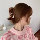 髮夾 日系甜美三角形醋酸抓夾復古百搭盤發夾子發抓后腦勺發飾森系頭飾