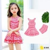 兒童泳衣 連體裙式孩公主寶寶小中大童韓版泳裝學生可愛游泳衣