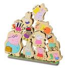 【鯊玩具Toy Shark】粉紅豬小妹 木頭堆高遊戲組