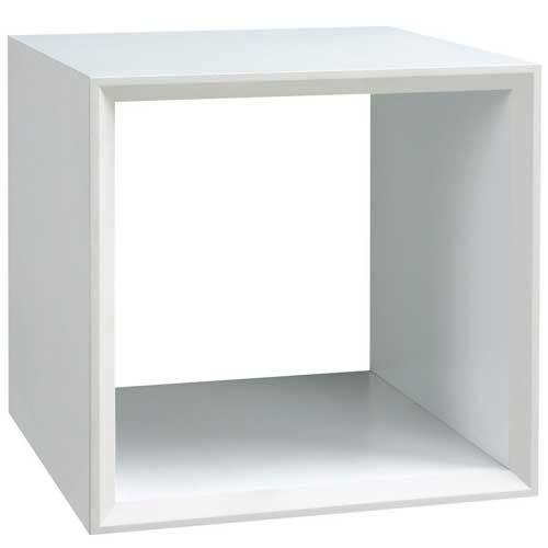 【藝匠】魔術方塊白色小鏤空櫃收納櫃 家具 組合櫃 廚具 收藏 置物櫃 櫃子 小櫃子