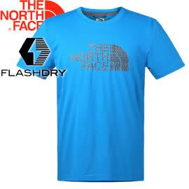 【The North Face Men's S/S Half Dome Reaxion Tee男款 短袖排汗衣〈藍〉】2SM3/短袖/排汗衣★滿額送