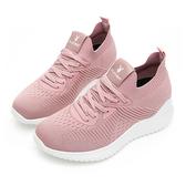 PLAYBOY 個性步伐 針織襪套內增高鞋-粉(Y5732粉)