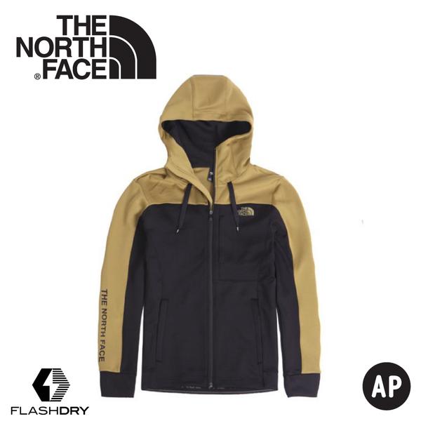 【The North Face 男 快乾保暖外套《黑卡其》】46HV/保暖外套/連帽外套/休閒外套