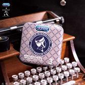 情趣用品-衛生套 Durex杜蕾斯 x Porter 更薄型保險套鐵盒限定版 3入 灰藍格紋