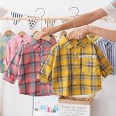 童裝男童襯衫2021新款薄款外套寶寶長袖上衣兒童襯衣春秋純棉韓版 艾瑞斯