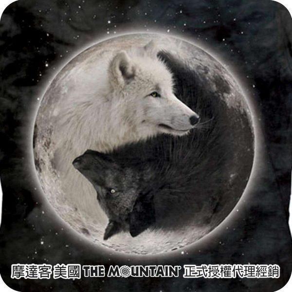 【摩達客】(預購)美國進口The Mountain 陰陽狼 短袖女版T恤精梳棉環保染(12516045007a)