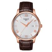 TISSOT天梭表TRADITION時尚腕錶(T0636103603800)白面/42mm