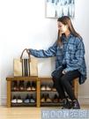 鞋架簡易窄門口置物架實木家用小型放鞋子收納神器經濟型YYJ 【快速出貨】