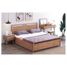 [紅蘋果傢俱] 實木家具 梣木系列GLMW98高箱床(另售 床頭櫃 妝台 妝凳)床架 雙人床 全實木 臥房