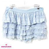 【SHOWCASE】俏麗多層次唯美蕾絲蛋糕褲裙(藍)