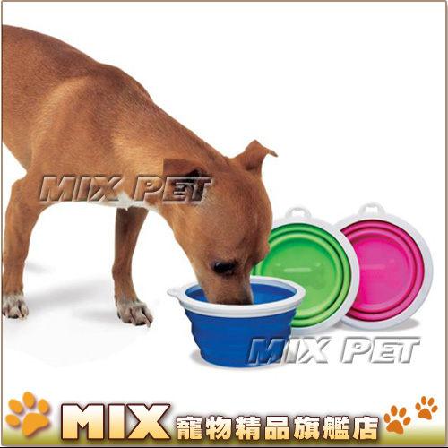 ◆MIX米克斯◆美國Bamboo.寵物外出摺疊碗【大】適合中小型犬貓,無毒材質,攜帶方便好收納