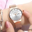 手錶女學生韓式簡約潮流ULZZANG時尚新款鋼帶錶女士防水石英流行女錶