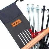 ♥巨安網購♥【20107011528】地釘收納袋戶外野營便攜地釘儲存包 (收納袋40cm)