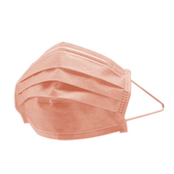 萊潔 醫療防護口罩成人-蜜光橘(50入/盒裝)