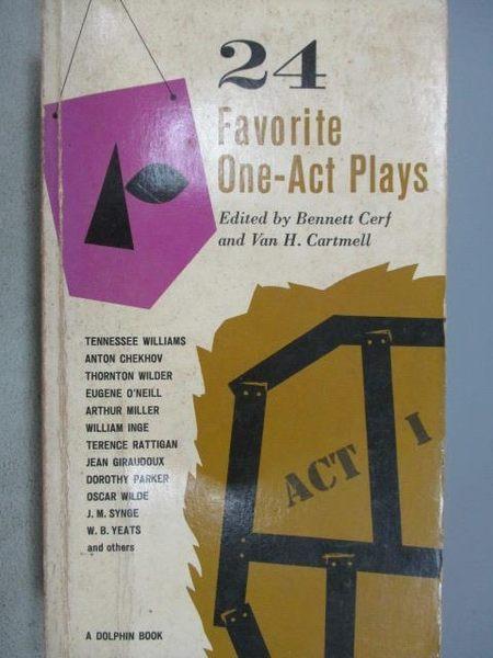 【書寶二手書T9/藝術_MMZ】24 Favorite One-Act Plays