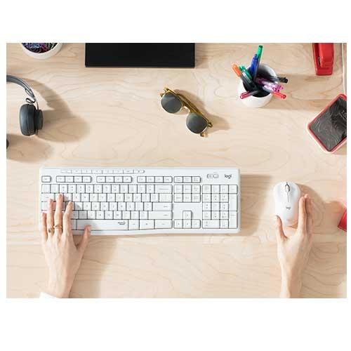 Logitech 羅技 MK295 石墨灰/珍珠白 靜音 多媒體快捷鍵 無線連線 鍵盤滑鼠組