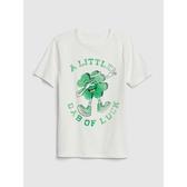 Gap男童 童趣風格圓領短袖T恤539394-米白色