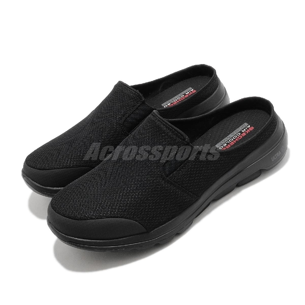 Skechers 懶人拖 Go Walk 5-Exposure 黑 全黑 男鞋 拖鞋 輕便套入 【ACS】 55522BBK