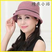 羊毛呢帽子女秋冬季中年帽子保暖