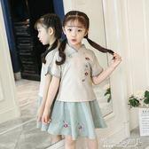 女童古裝 女童漢服裝套裝改良女孩童裝中國風兒童民族風服裝復古唐裝 傾城小鋪