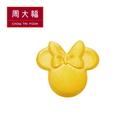 霧面米妮黃金耳環(單耳) 周大福 迪士尼經典系列