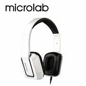 【南紡購物中心】【Microlab】K330多功能立體聲多媒體耳機 (含通訊麥克風)_白