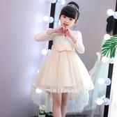 爆款熱銷公主裙女童秋裝公主裙新款長袖蓬蓬紗連身裙兒童洋氣拖尾裙演出禮服聖誕節