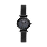 FOSSIL經典黑鋼米蘭帶腕錶ES4613