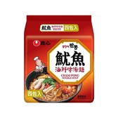 韓國 農心 魷魚海鮮味湯麵 4入(整袋裝)【小三美日】炒瑪麵