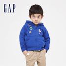 Gap男幼童Gap x Marvel 漫威系列卡通印花連帽衫551238-布裡斯托海港藍