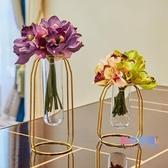 花瓶 創意北歐插花水培植物試管花瓶透明玻璃瓶家居裝飾品客廳餐桌擺件【降價兩天】