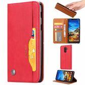 小米 紅米note6 Pro 手機殼 簡約 商務  可插卡 保護套 磁吸 翻蓋 支架 皮套