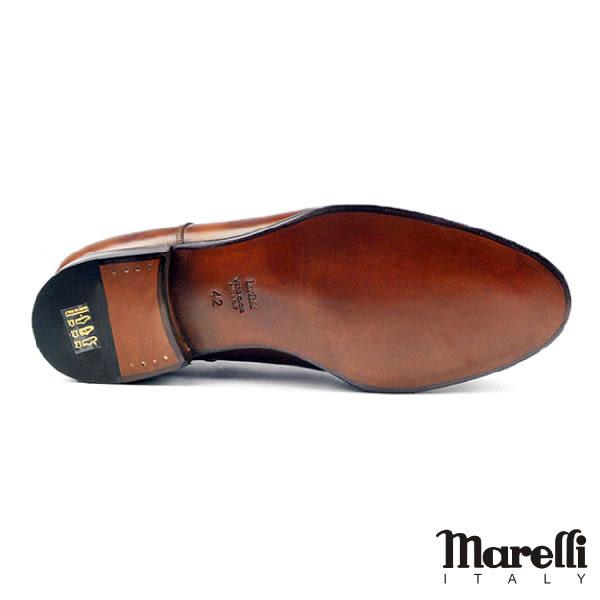 【Marelli】都會U-tip手工德比鞋 咖啡(M851-BR)