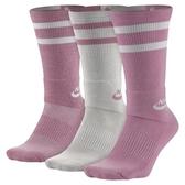 【iSport愛運動】Nike SB CREW SOCKS 一組三雙 SX5760906 粉白色