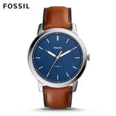 FOSSIL Minimalist 低調不鏽鋼極薄款手錶 男 FS5304