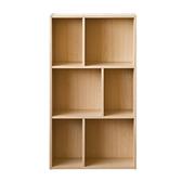 【TZUMii】創意六格三層櫃-木紋色