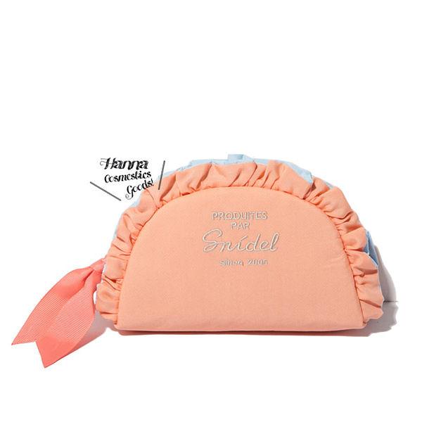 《花花創意会社》【H3436】限量.仙女粉橘SNIDE荷葉邊半圓手拿包