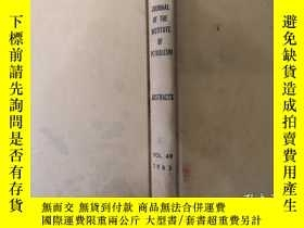 二手書博民逛書店JOURNAL罕見OF THE INSTITUTE OF PET